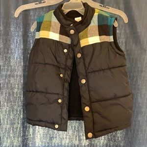 Plaid and Navy Vest